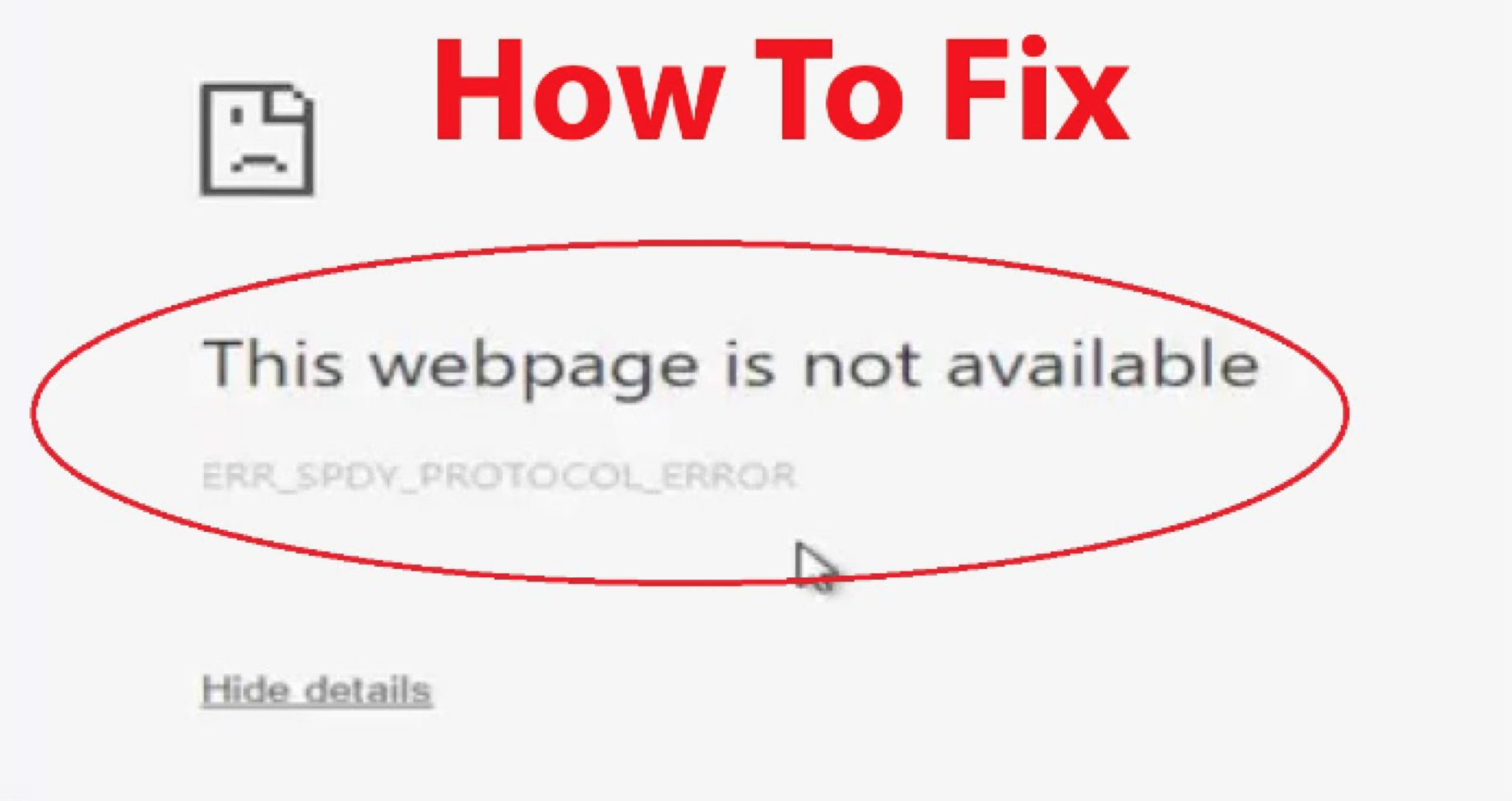 How To Fix ERR_SPDY_PROTOCOL_ERROR in Google Chrome - Good Tech Tricks