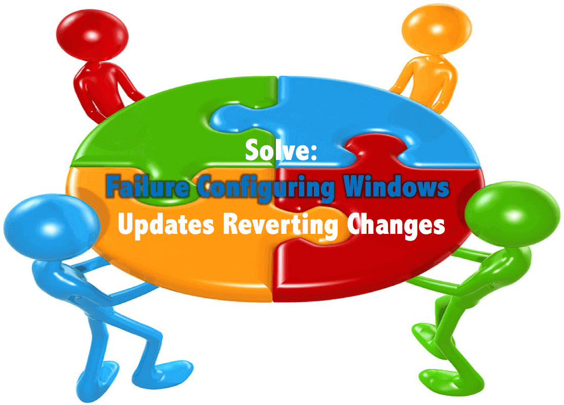windows updates failed reverting changes