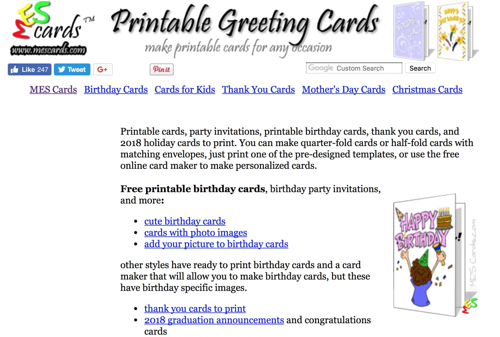 Online places to design free printable invitation cards templates the best thing about this website is that it have some online printable birthday card templates which you can edit and download according to your needs kristyandbryce Image collections
